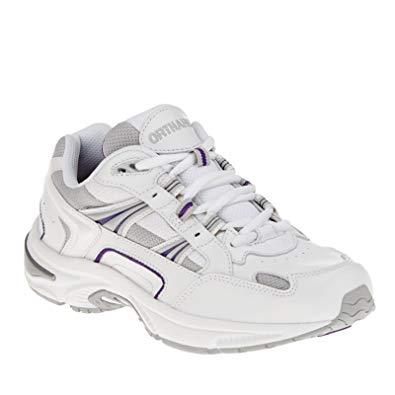 Vionic Walker Women's Plantar Fasciitis Shoe - White/Purple
