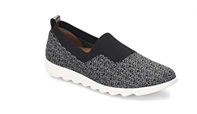 Comfortiva Women's Ginger Black Dark Grey Slip on Shoes